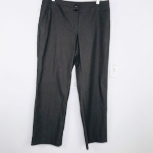 AGB Brown Pinstripe Stretch Dress Pants